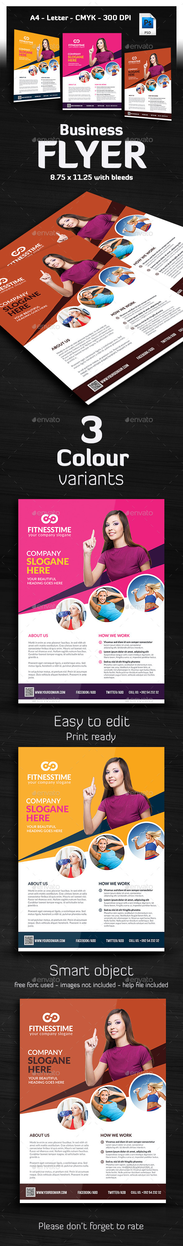 GraphicRiver Ivato Multipurpose Business Flyer 9334378