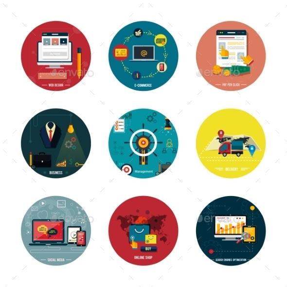 GraphicRiver Icons for Web Design Seo and Social Media 9380951