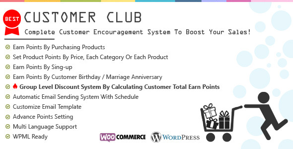 CodeCanyon Customer Club Advanced WooCommerce Point System 9381044