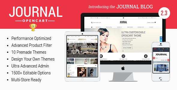 Journal - Advanced Opencart Theme Framework - OpenCart eCommerce