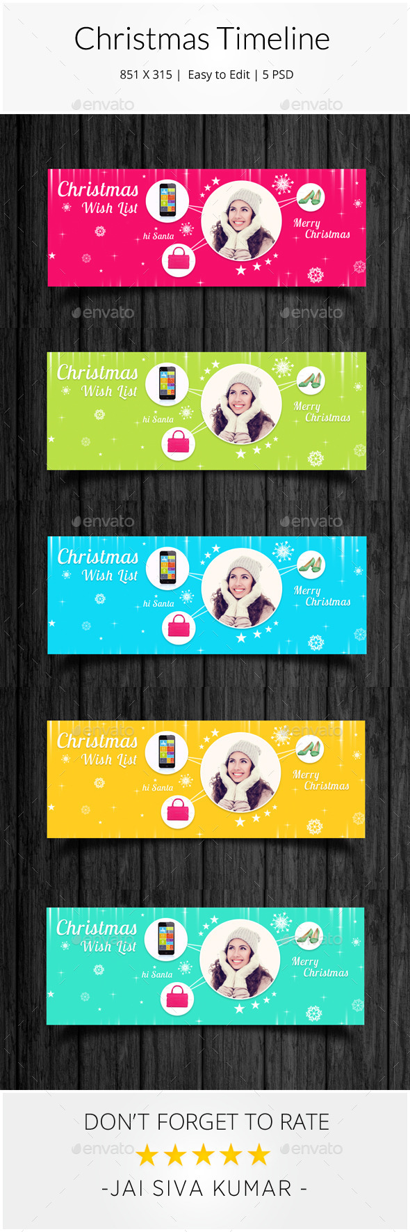 GraphicRiver Christmas Facebook Timeline 9381074