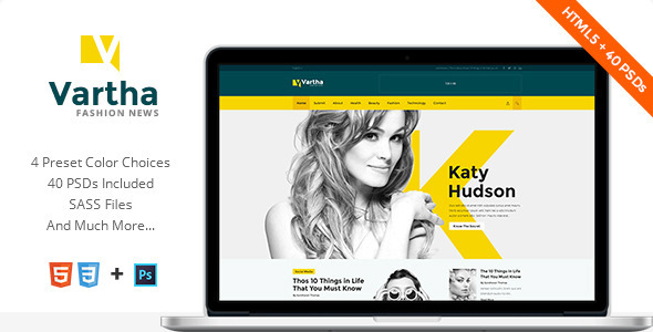 Vartha HTML5 Magazine Template