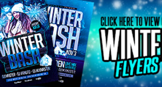 Winter Flyer Templates