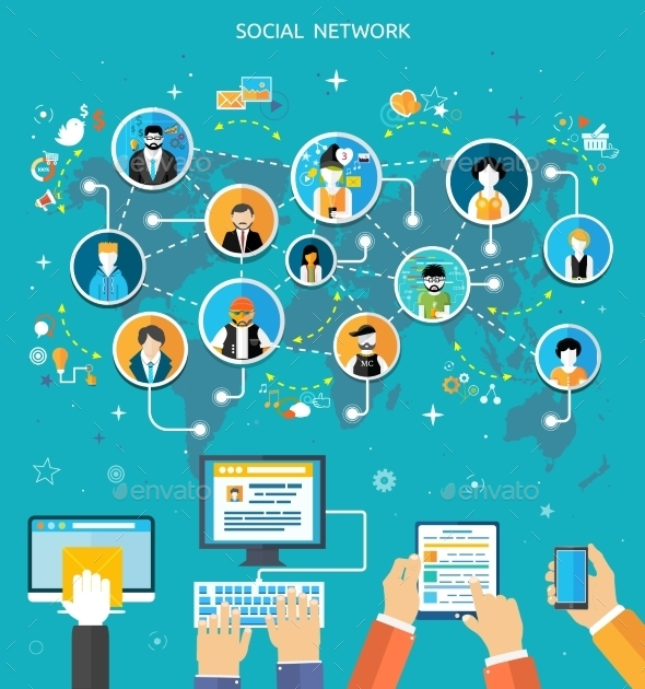 GraphicRiver Social Media Network Connection Concept 9381831