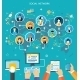 Social Media Network Connection Concept - GraphicRiver Item for Sale