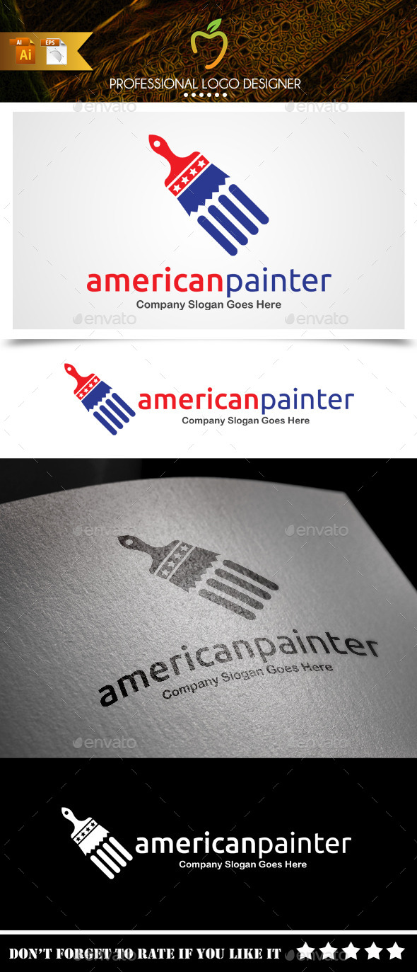 GraphicRiver American Painter Logo 9381852