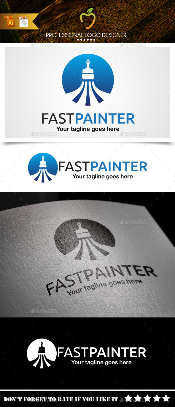 GraphicRiver Fast Painter Logo 9381859