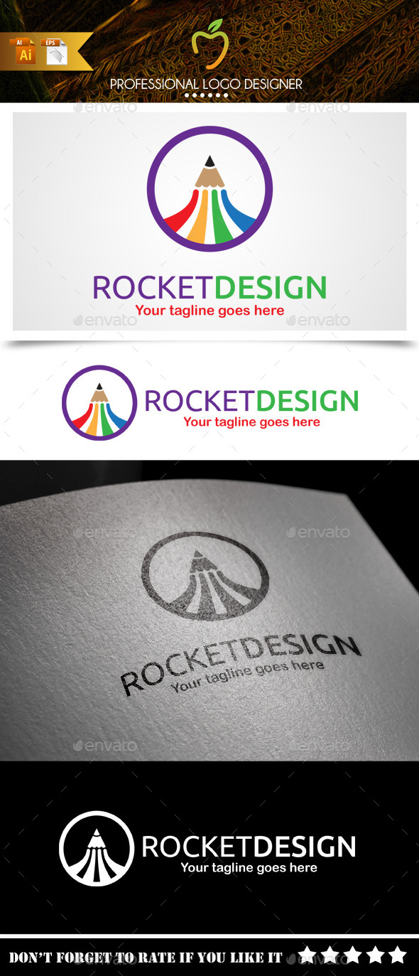 GraphicRiver Rocket Design Logo 9381952