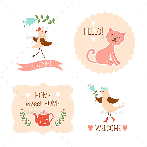 GraphicRiver Welcome Home Decorative Elements 9382106