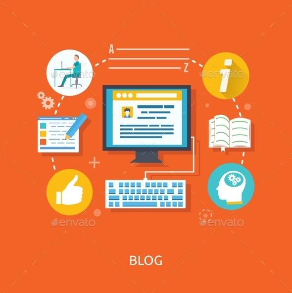 GraphicRiver Blogging Concept 9382118