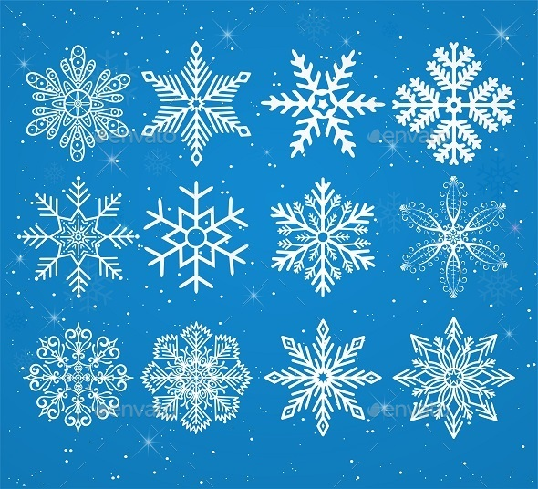 GraphicRiver Set of Snowflakes 9382204