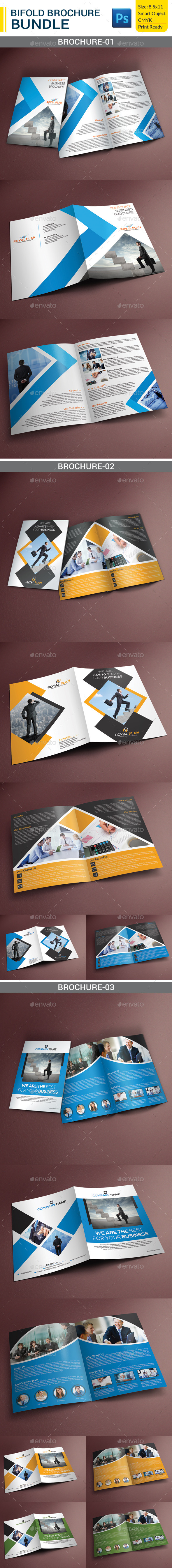 GraphicRiver Corporate Bifold Brochure Bundle 9382206