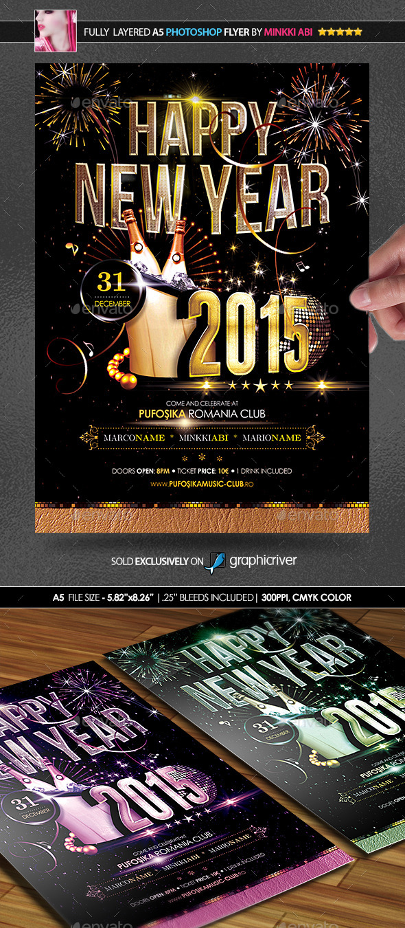 GraphicRiver 2015 New Year Poster Flyer 9382524