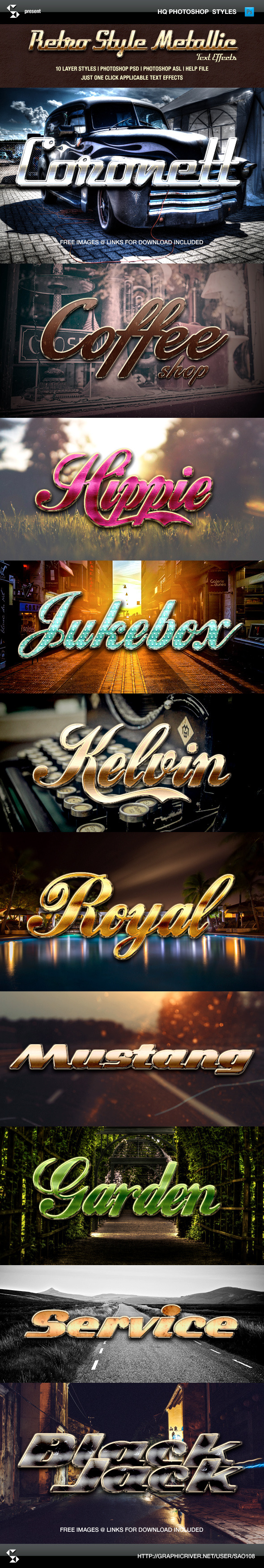GraphicRiver Retro Style Metallic Text Effects 9382781