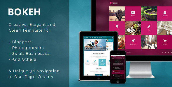 ThemeForest Bokeh HTML Template for Blog Portfolio & Business 9330975