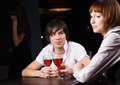 Dating in cafe with red wine - PhotoDune Item for Sale