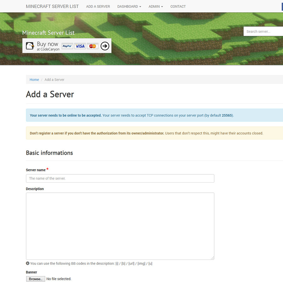 how to create sql script for minecraft website