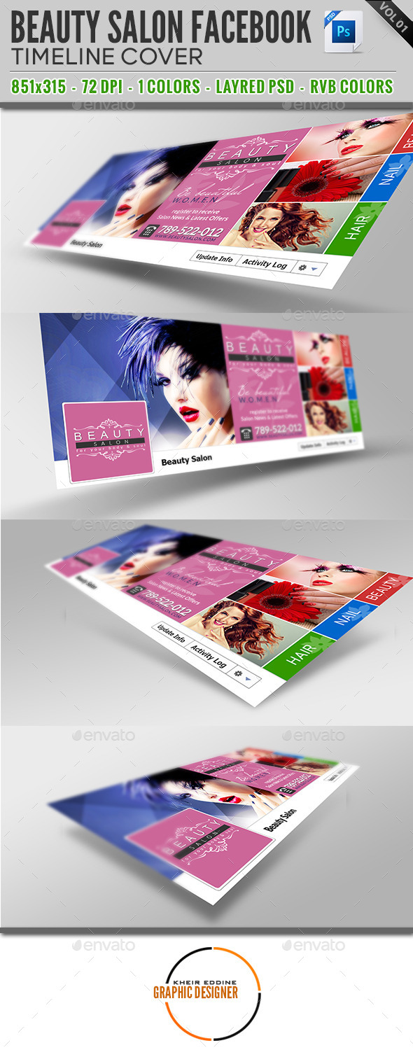 GraphicRiver Beauty Salon Facebook Timeline Cover Vol 01 9383181
