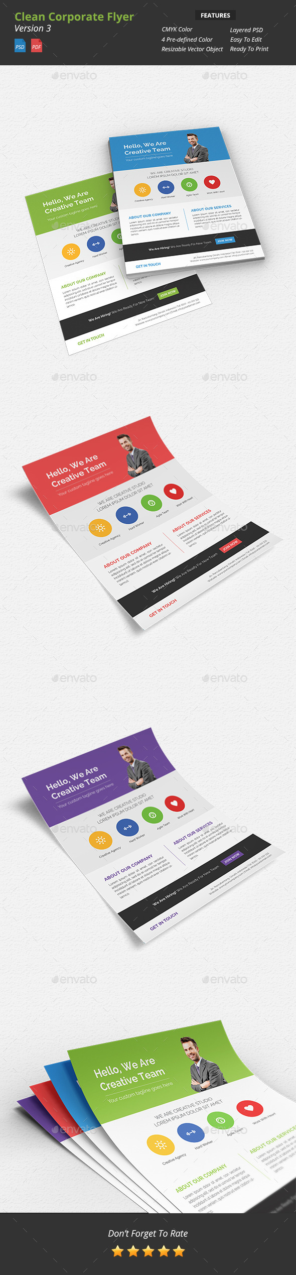 GraphicRiver Clean Corporate Flyer v3 9383185