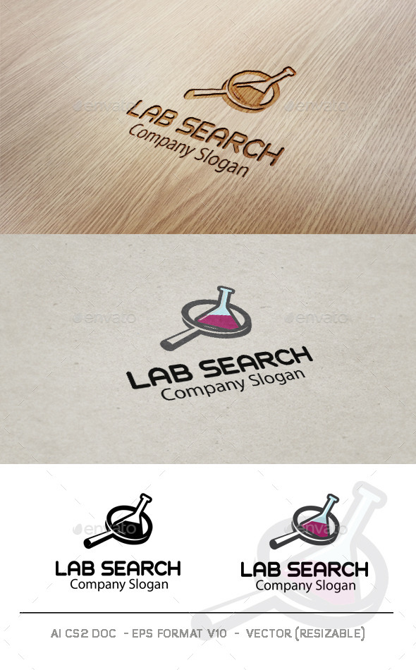 GraphicRiver Lab Search logo 9383292