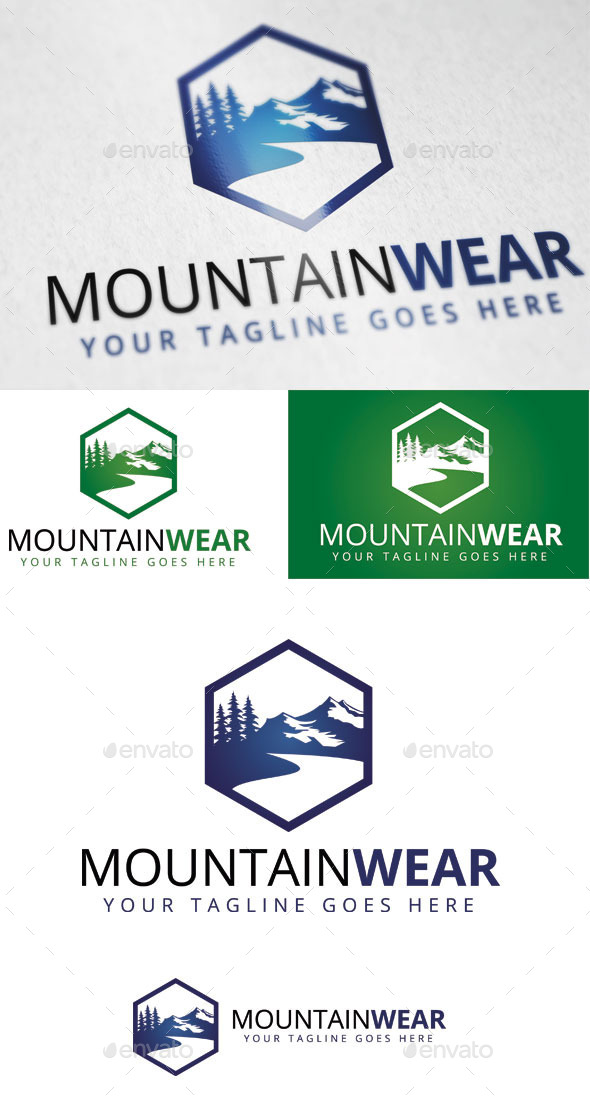 GraphicRiver Mountain Wear Logo Template 9383316