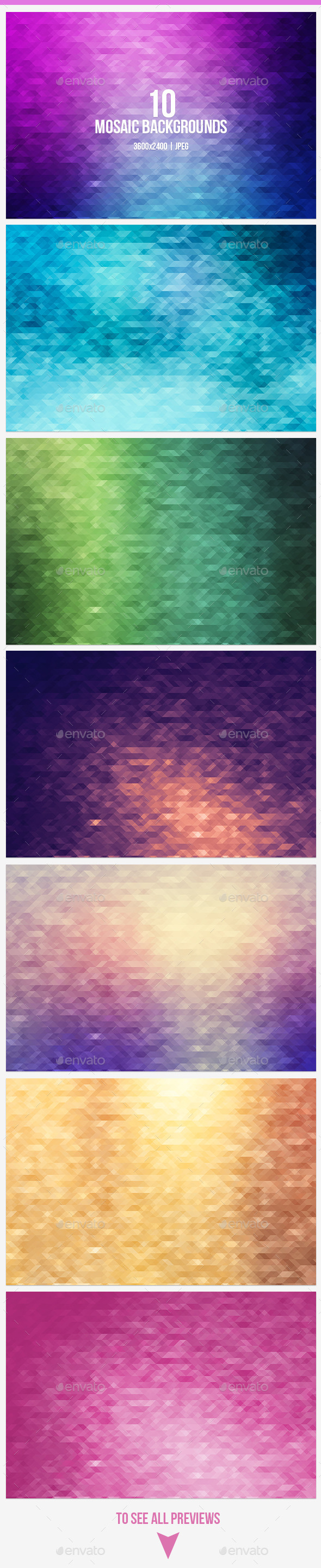 GraphicRiver Mosaic Backgrounds 9383440