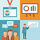 Vector Conference Concepts in Flat Style  - GraphicRiver Item for Sale