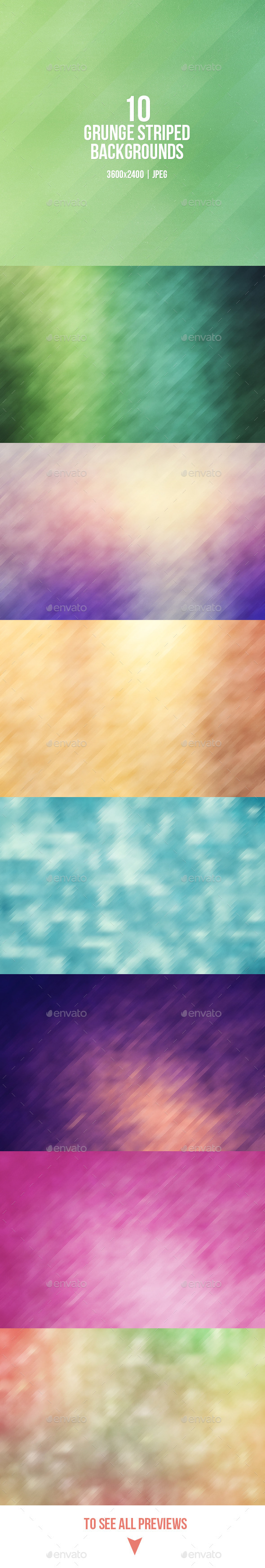 GraphicRiver Grunge Striped Backgrounds 9383556