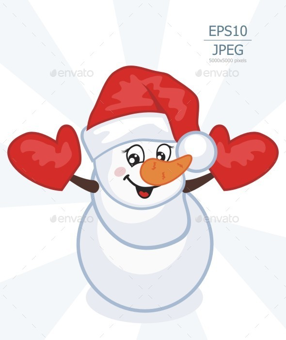 GraphicRiver Snowman 9383959