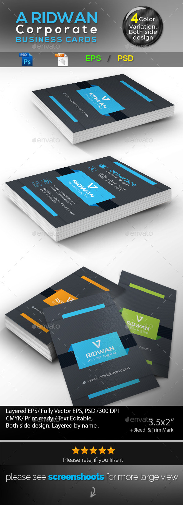 GraphicRiver Corporate Business Card 9384010
