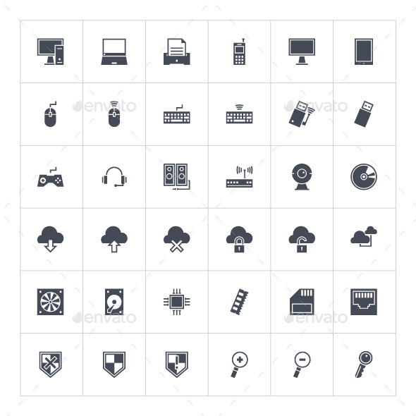 GraphicRiver Computer Icons 9384074