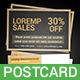 Sale Postcard - GraphicRiver Item for Sale