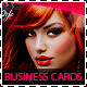 Hair Salon Fashion Style Business Cards - GraphicRiver Item for Sale
