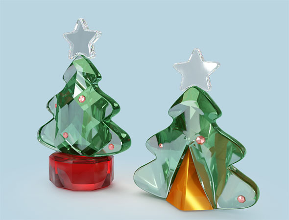 3DOcean 3D Crystal Christmas Tree 9384121