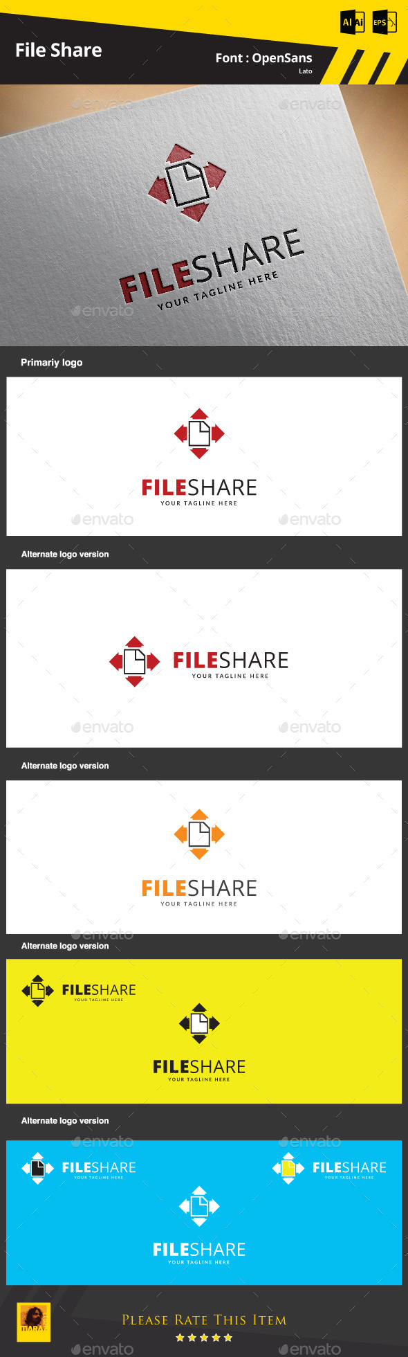 File Share Logo Template