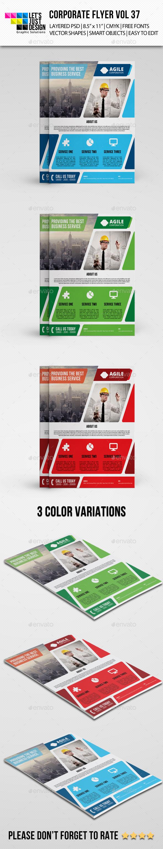 GraphicRiver Corporate Flyer Template Vol 37 9384185
