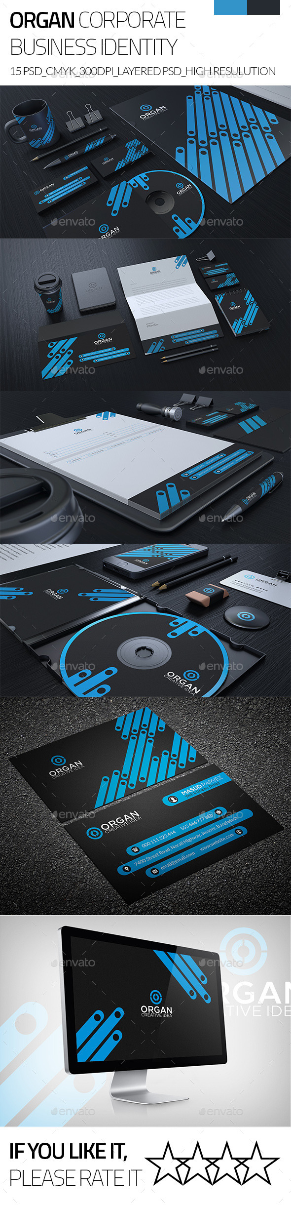 GraphicRiver Organ Corporate Business Stationary Identity 9384517