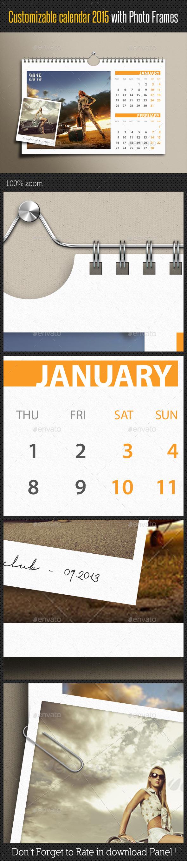GraphicRiver Customizable Calendar 2015 Photo Frame V02 9384812