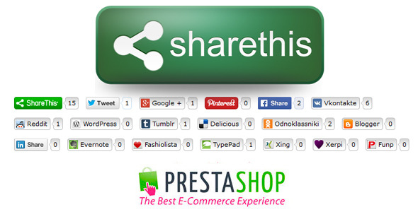 CodeCanyon Social ShareThis Buttons for Prestashop 9384856