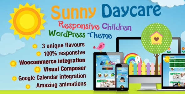 ThemeForest Daycare Kindergarden Wordpress Theme 9384877