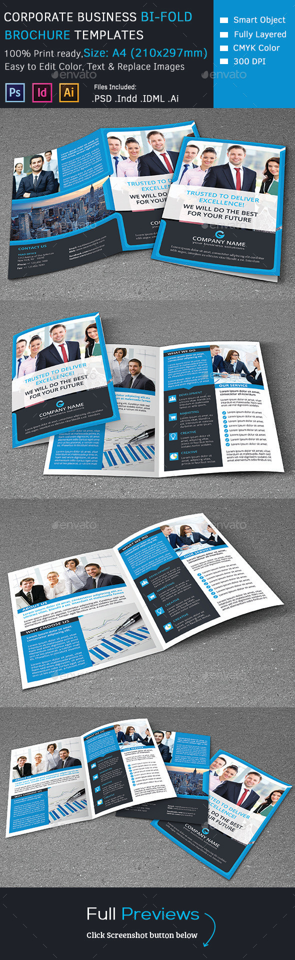 GraphicRiver Corporate Business Bi-Fold Brochure 9384977