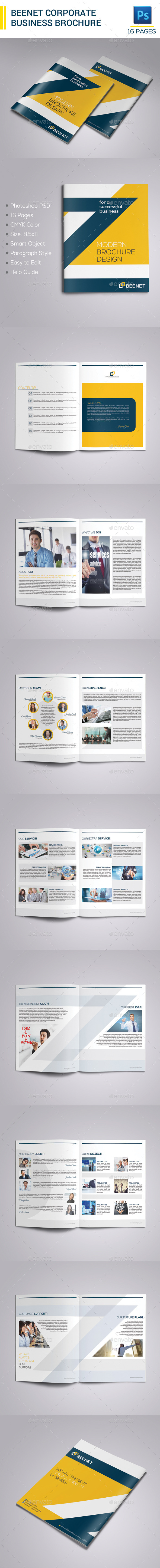 GraphicRiver Beenet Corporate Business Brochure 9384986