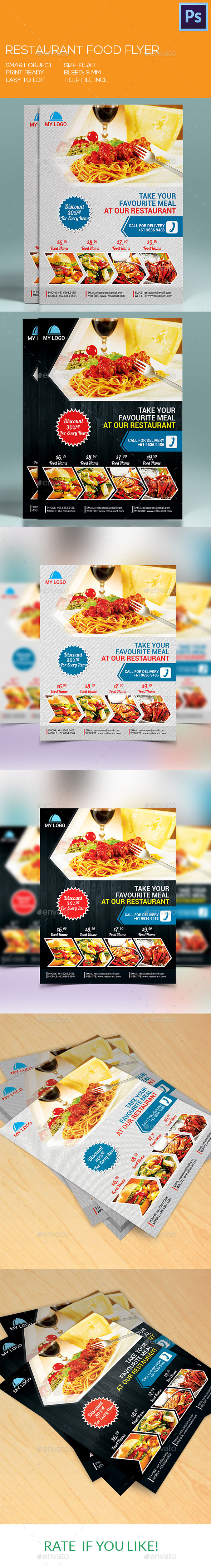 GraphicRiver Restaurant Fast Food Flyer 9385310