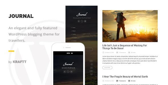 Journal - Elegant Responsive WordPress Blog Theme - Personal Blog / Magazine