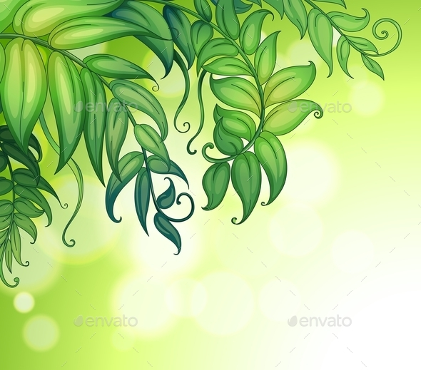 GraphicRiver Green Leaves 9385486