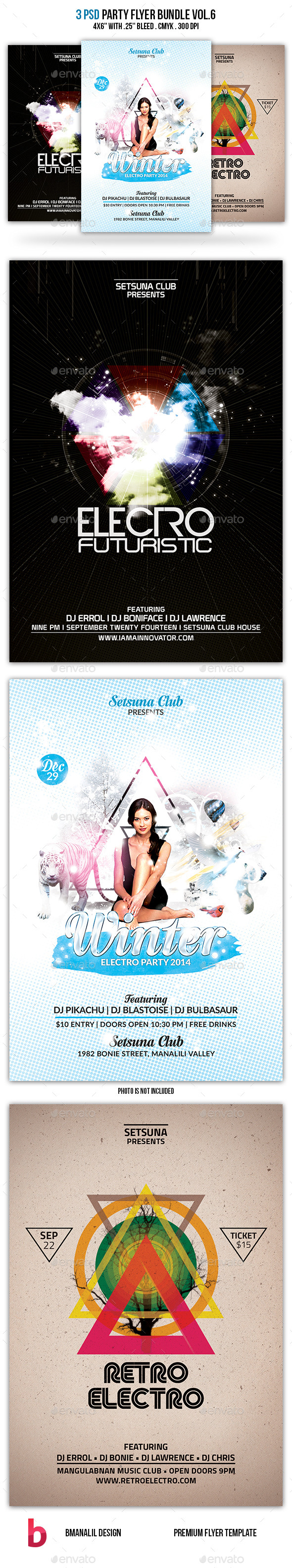 GraphicRiver Party Flyer Bundle Vol.6 9385488