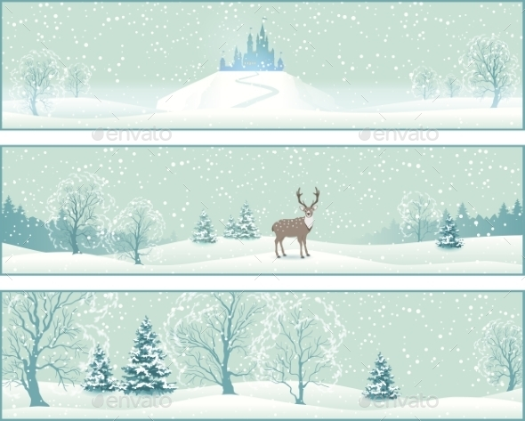 GraphicRiver Winter Landscape Banners 9385499