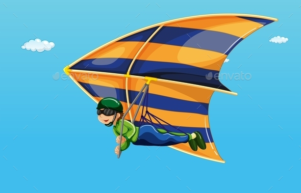 GraphicRiver Hang Gliding 9385542