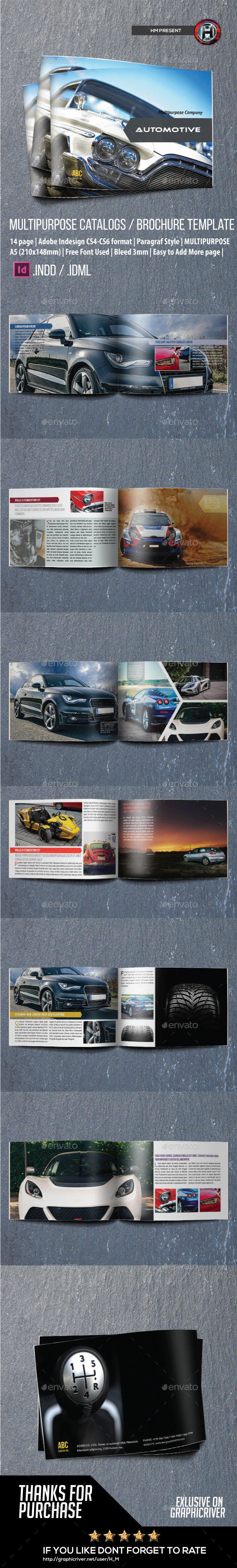GraphicRiver Automotive Catalog Brochure Indesign Template 9327786