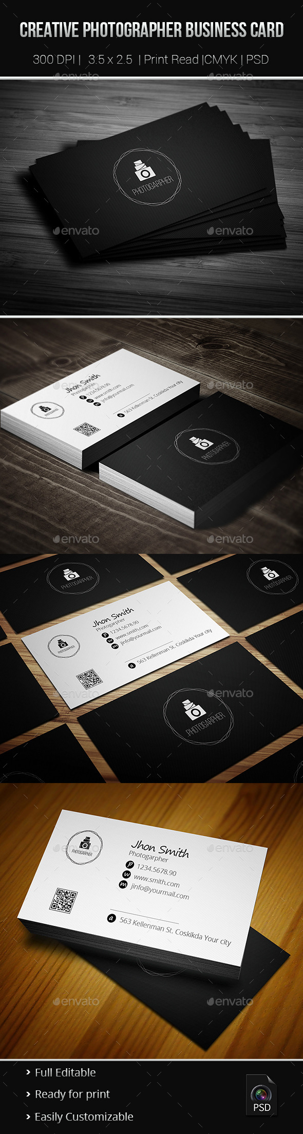 GraphicRiver Creative Photgrapher Business Card 02 9386241